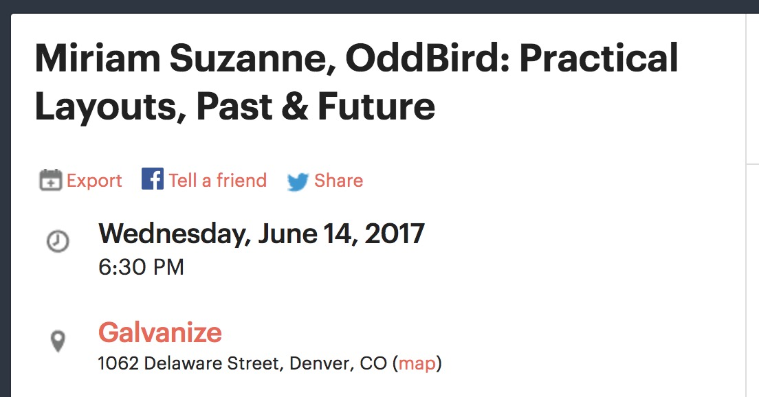 Practical Layouts, Past & Future at Refresh Denver, Wednesday, June 14, 2017