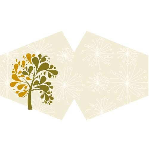face mask - golden tree