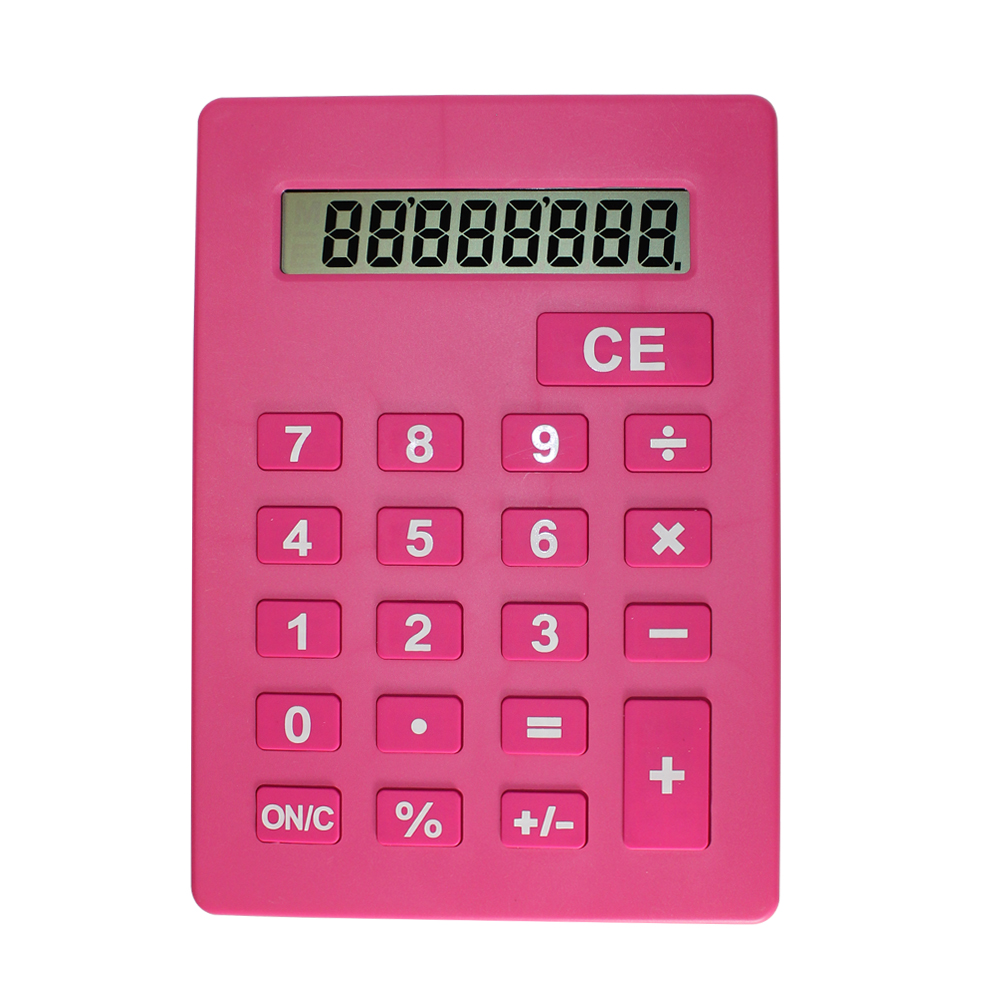 Jumbo Calculator Large Size Display Pink
