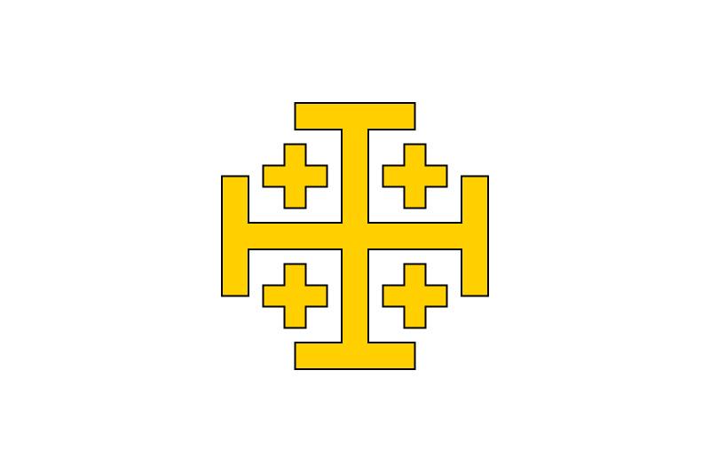 Bandera del Reino de Jerusalén