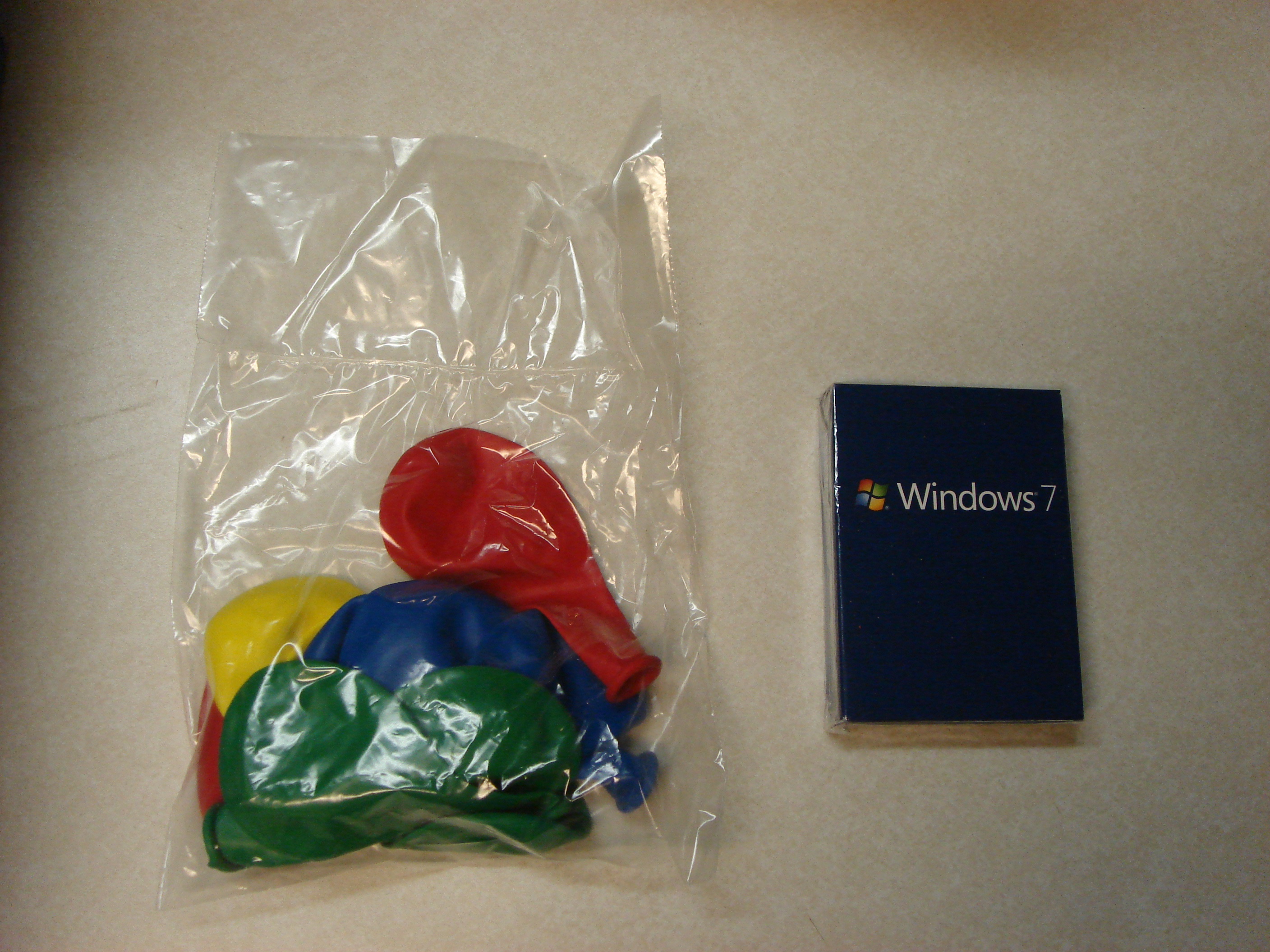 Windows 7 Balloons and Playing Cards
