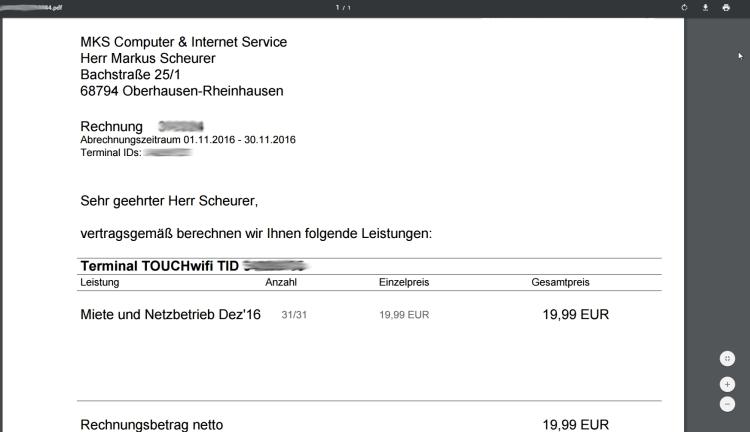 Für die Anzeige von Rechnungen reicht der PDF Viewer im Google Chrome vollkommen aus.