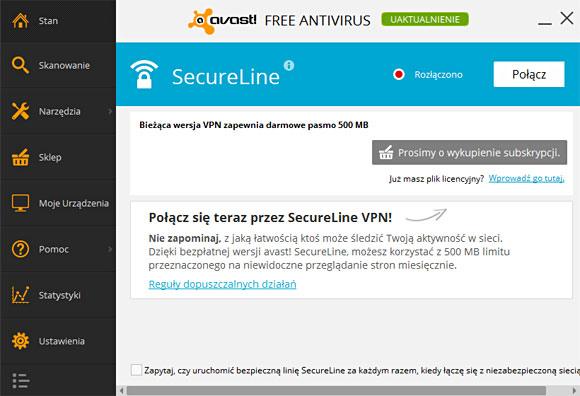 darmowy vpn client secureline od avasta