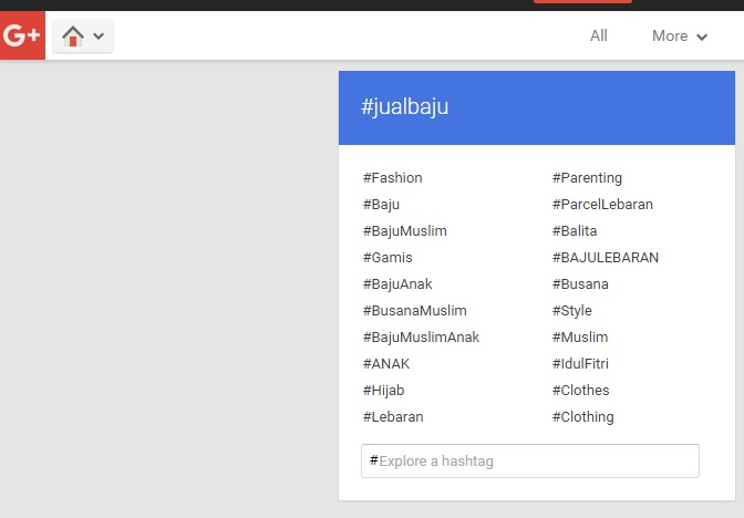 hashtag google+