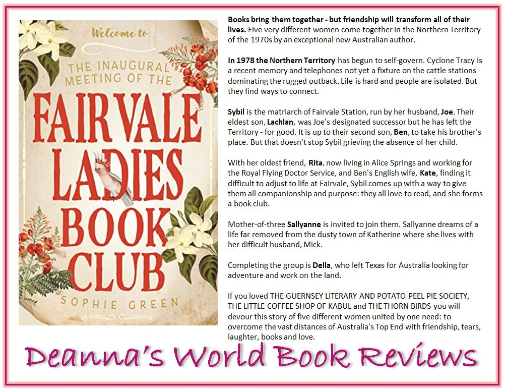 The Inaugural Meeting of the Fairvale Ladies Book Club by Sophie Green blurb