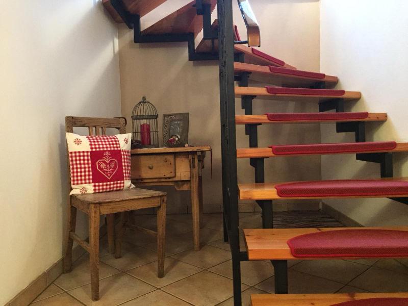 Treppenhaus im Haus Piz Buin