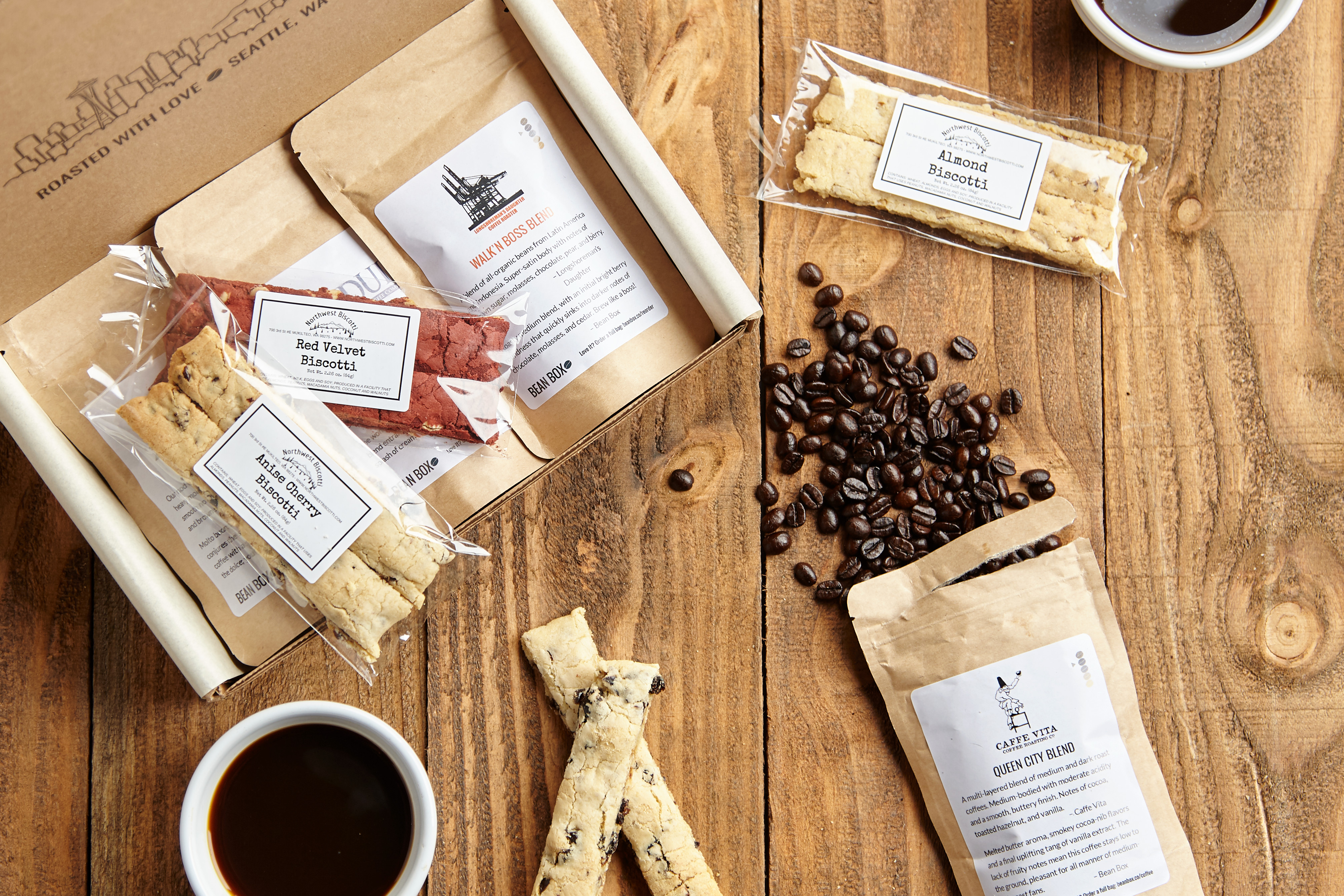 Bean Box Coffee + Biscotti Tasting Box