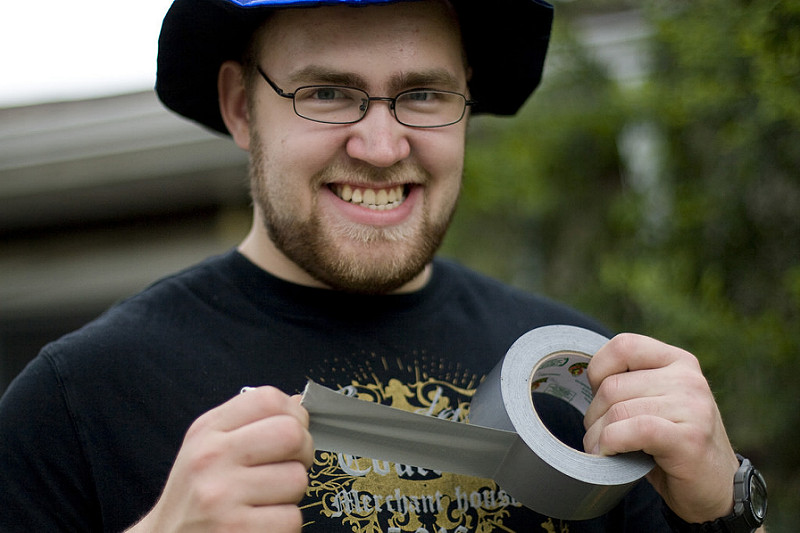 Guy with duct tape