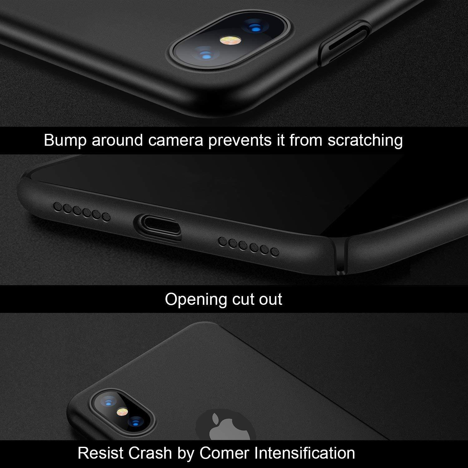 Thin-Slim-Hard-Case-Tempered-Glass-Cover-For-Apple-iPhone-X-XS-XR-Max-10-8-7-6s miniatuur 31