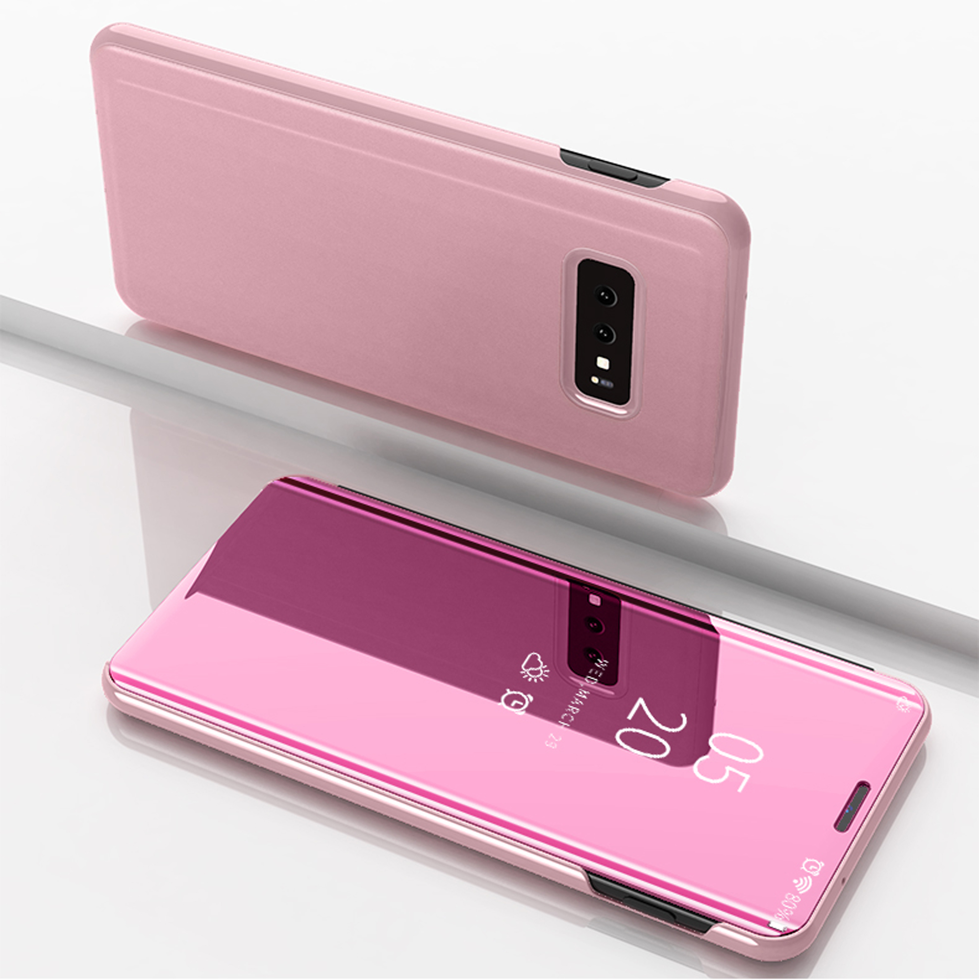 thumbnail 36 - For-Samsung-Galaxy-S9-S10-Plus-Smart-View-Mirror-Leather-Flip-Stand-Case-Cover
