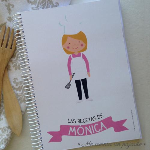cuaderno personalizado cocinera
