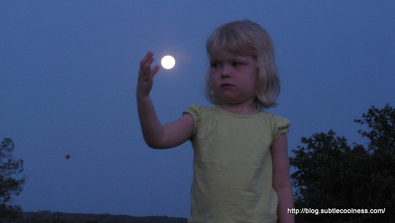 Emily and a full moon.