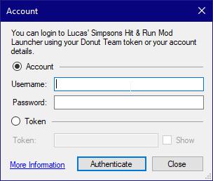 Account Dialog