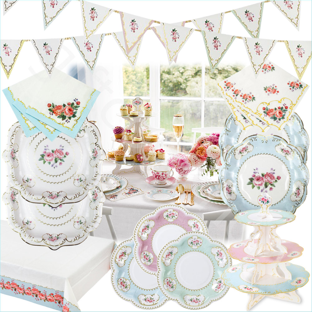 Vintage Tea Party: Talking Tables Vintage Tea Party Tableware Supplies