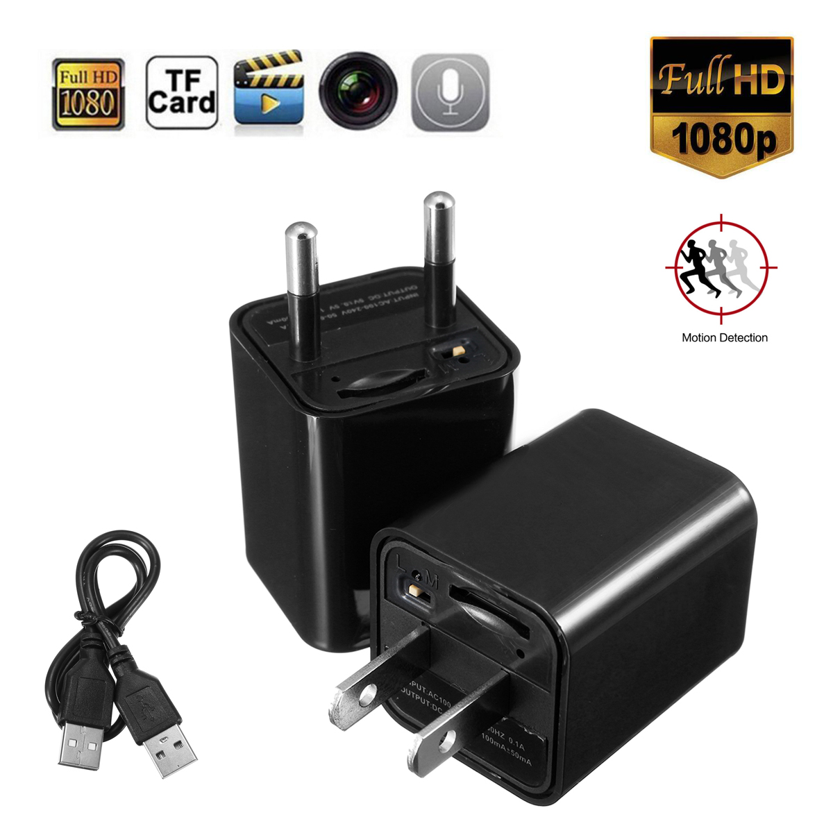 Other Gadgets S3 Mini 1080p Fhd Charging Power Adapter