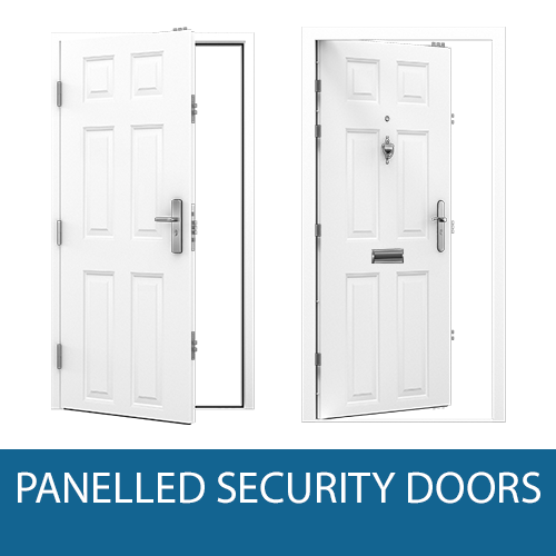 Panelled Steel Doors