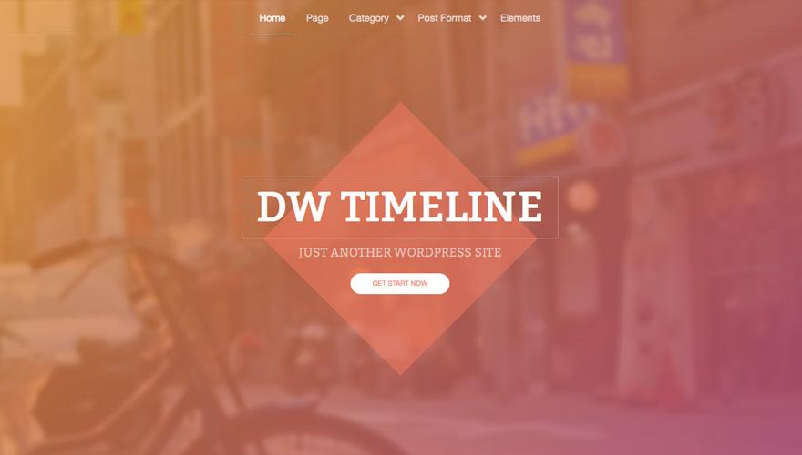 DW Timeline - free theme thang tu