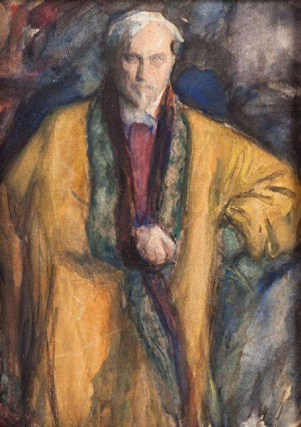 Leonid Pasternak Autorretrato  Acuarela