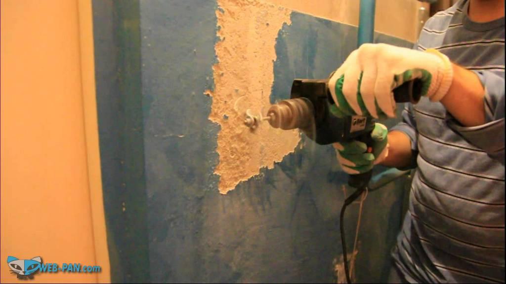 Способы удаления старой краски со стен в ванной, это проблема, но нужно делать всё самому!