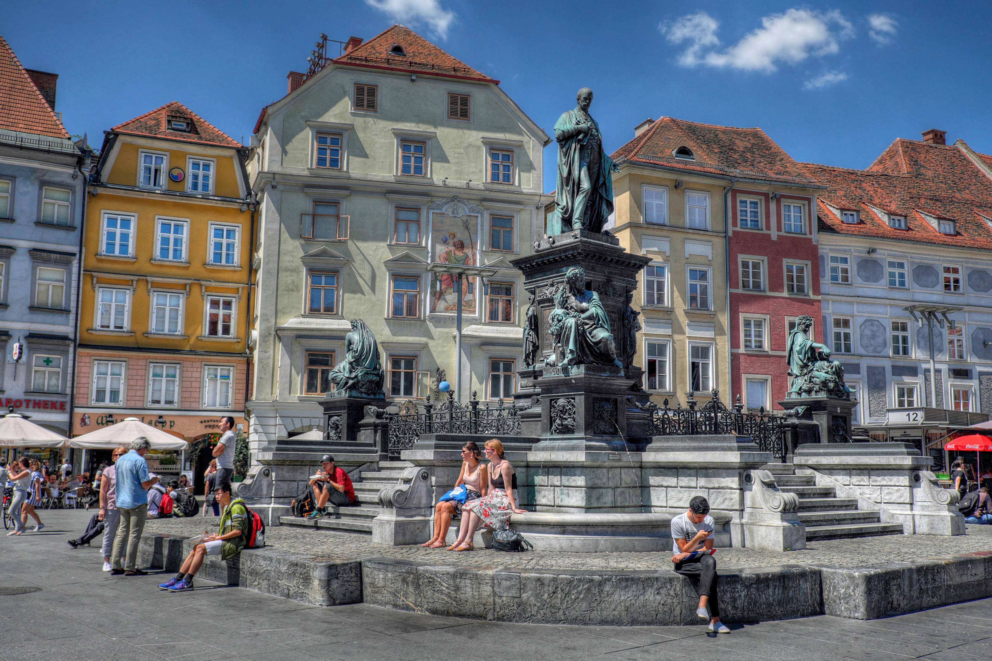 Погода в Граце, втором по населению городе Австрии, похожа на столичную
