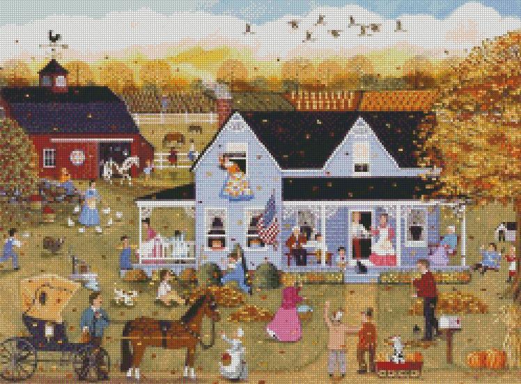 Sheila Lee cross-stitch - Thanksgiving Eve
