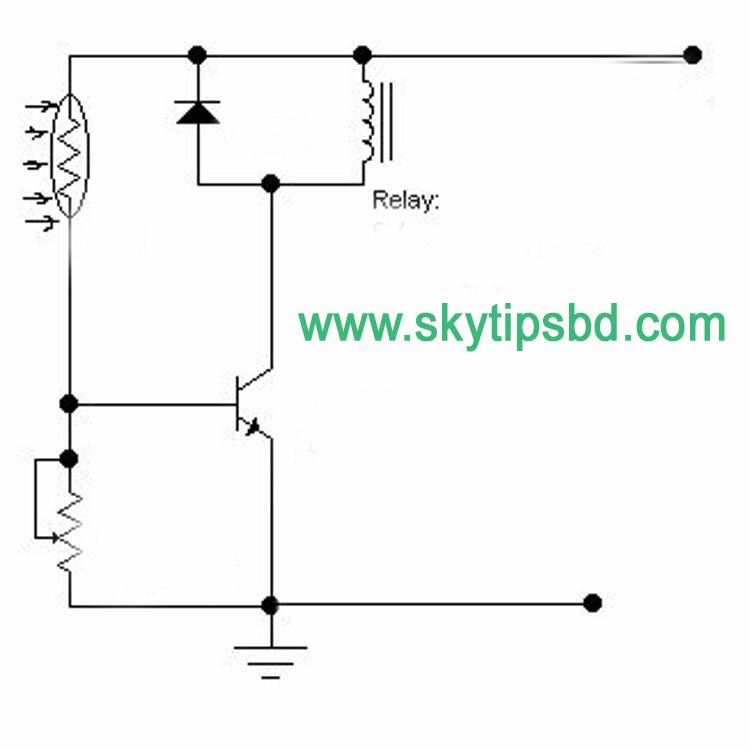 How to make LDR dependent relay?