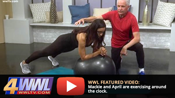 Mackie and April share exerises every Wednesday on WWL-TV