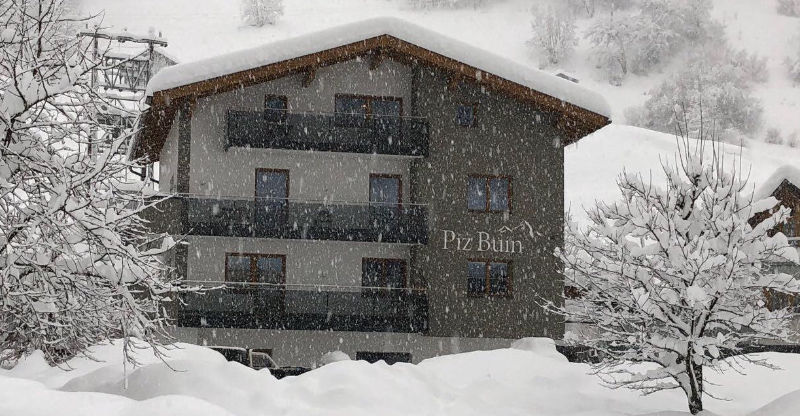 House Piz Buin in the winter