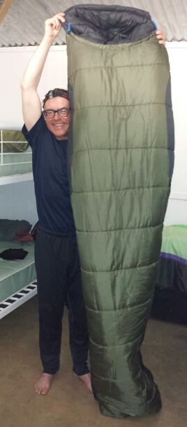 Keith and Sleeping Bag