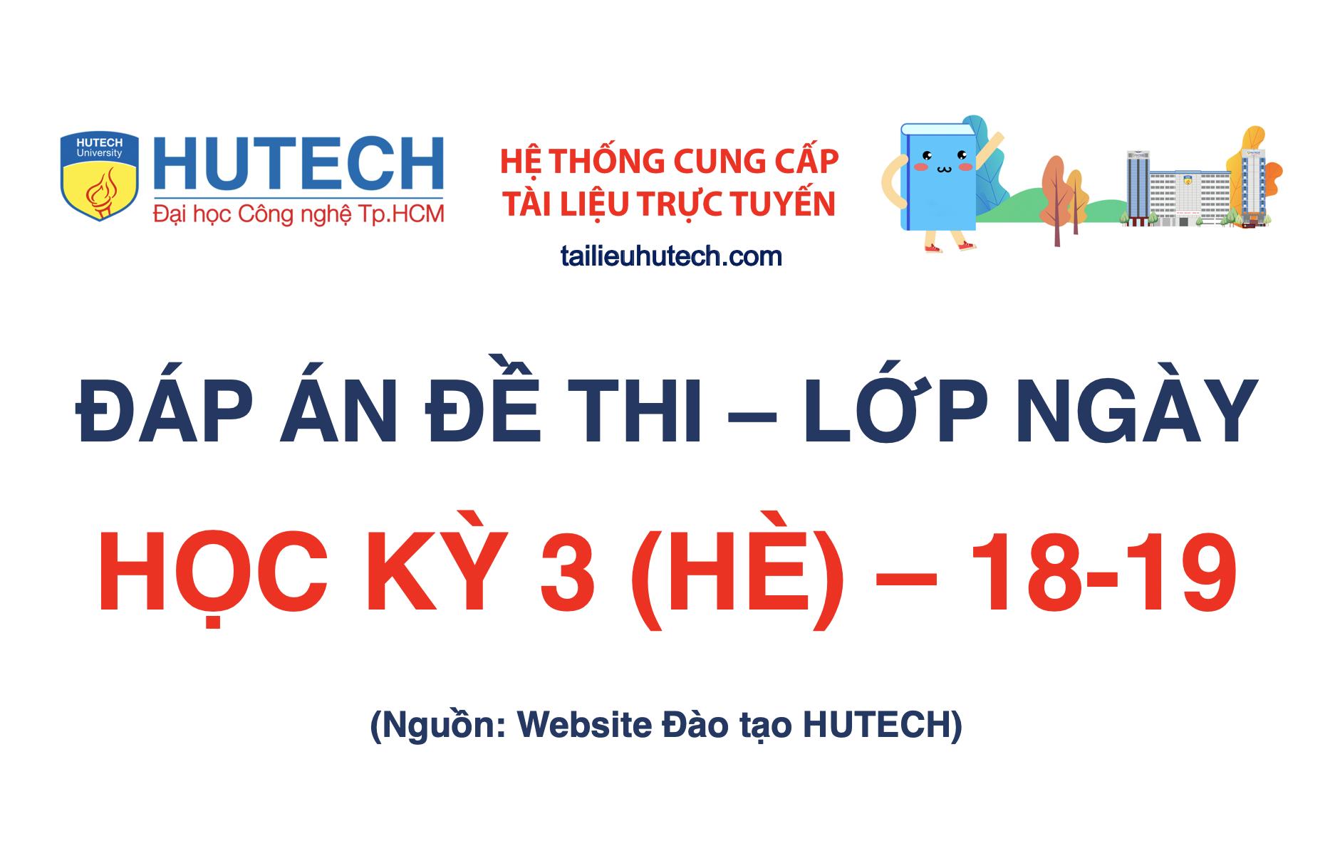 Đáp án HK 3 (HÈ) năm học 2018-2019_Lớp ngày