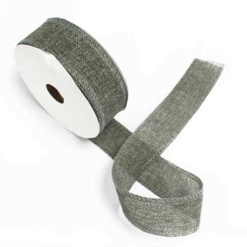 gift ribbon textured - charcoal - 38mm x 20m