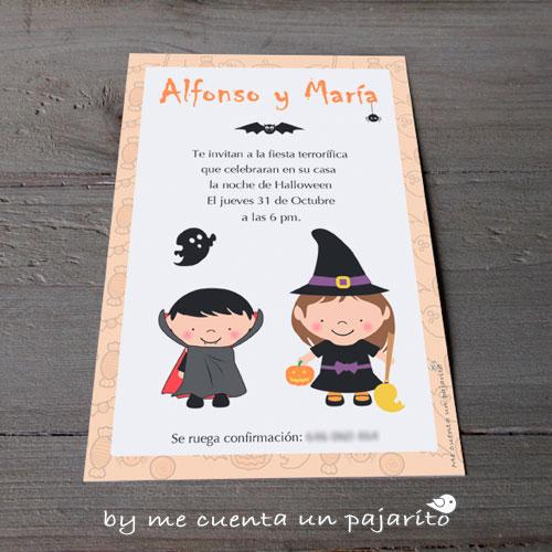 Invitación a la fiesta de Halloween