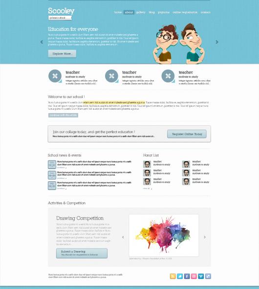 Primary School Website Theme