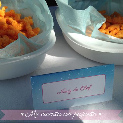 Tarjetas comida personalizadas del cumpleaños de Frozen con Elsa y Ana, place cards