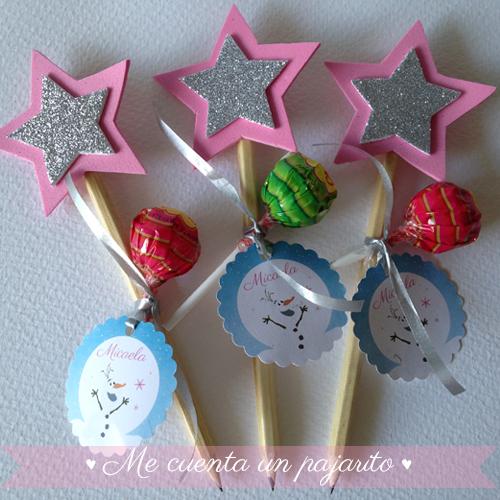 Estrella lápiz regalo del cumpleaños de Frozen con Elsa y Ana