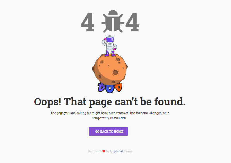 Lost – Free 404 Bootstrap Error Page Template