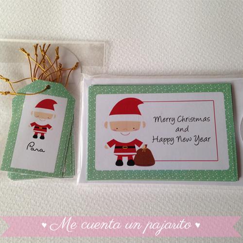 Felicitación de Navidad personalizada con Papá Noel