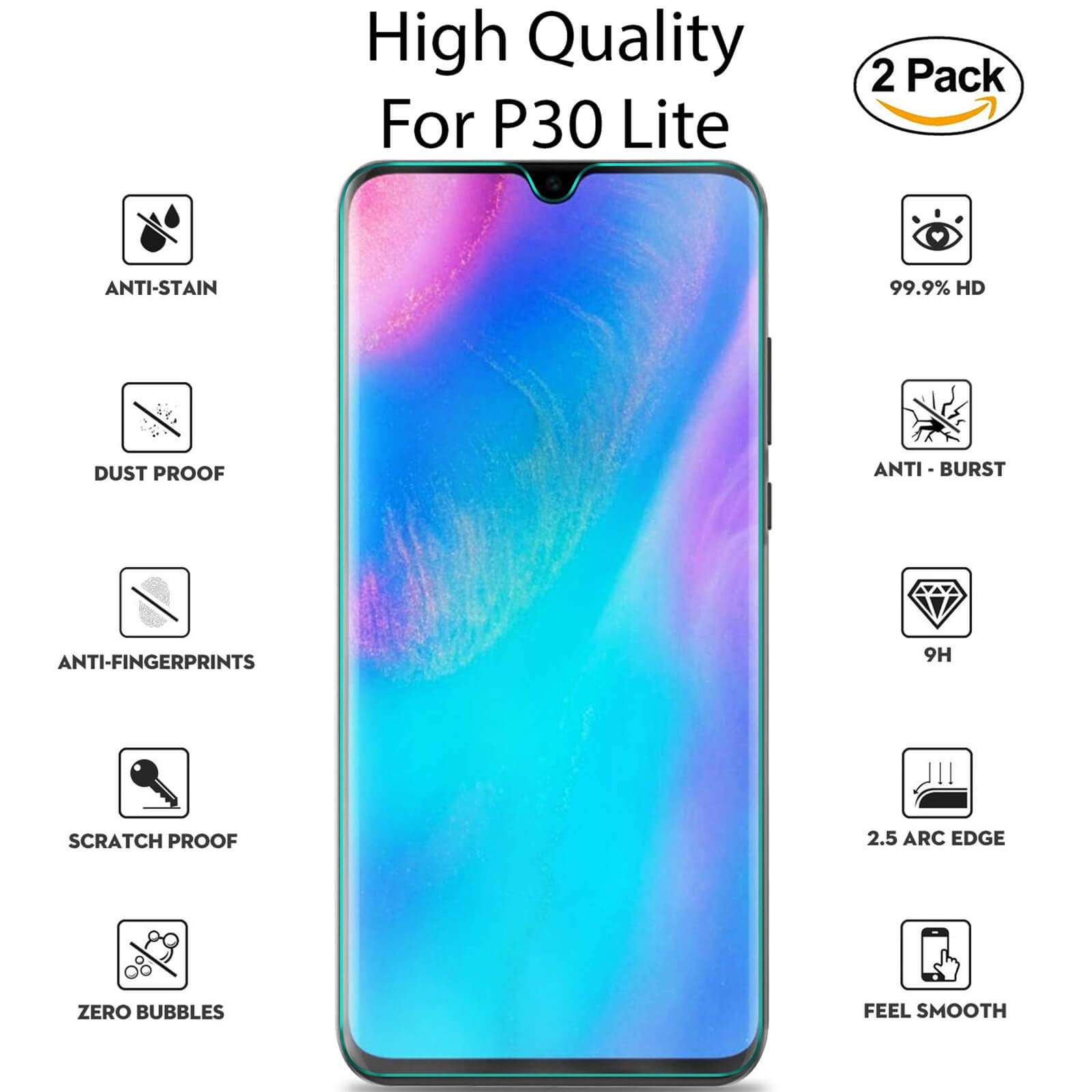 For-Huawei-Tempered-Glass-New-Full-Screen-Protector-Mate-20-P20-P30-Pro-Lite miniatura 25