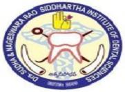 Drs. Sudha & Nageswara Rao Siddhartha Institute of Dental Sciences, Gannavaram Mandalam