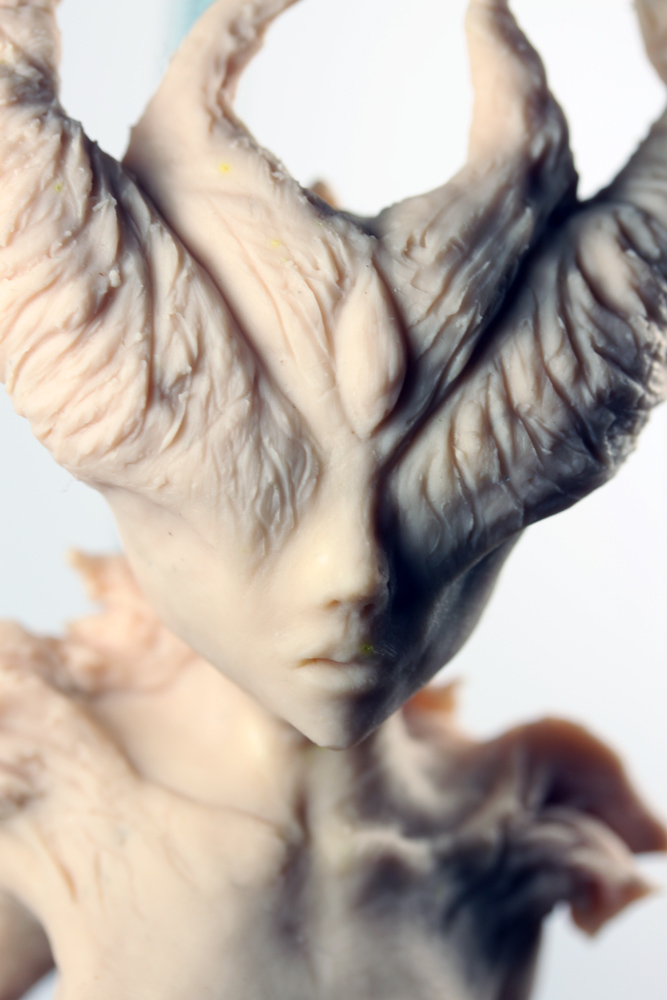 ooak Clay Fire Demon Sculpture by Dollartbyjulie
