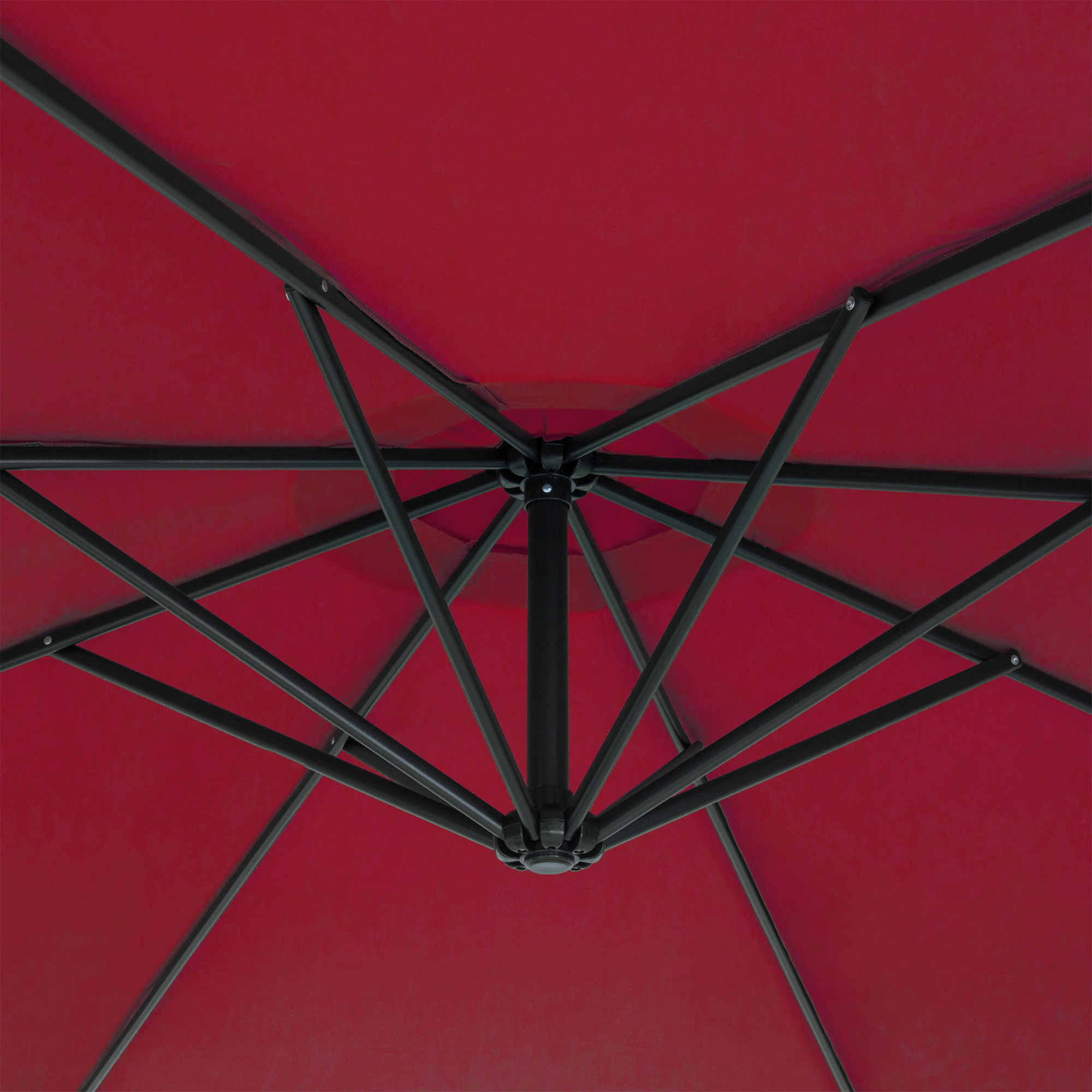 BCP-10ft-Offset-Hanging-Market-Patio-Umbrella-w-Tilt-Adjustment-Hand-Crank thumbnail 40