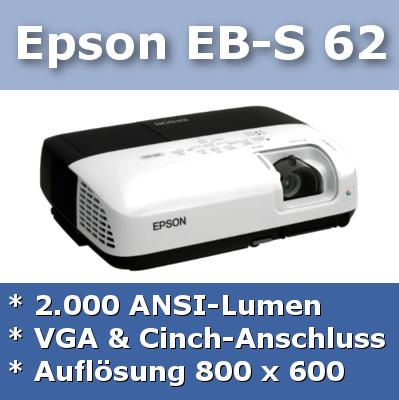 Hier gibt's mehr Infos zum Epson EB-S 62