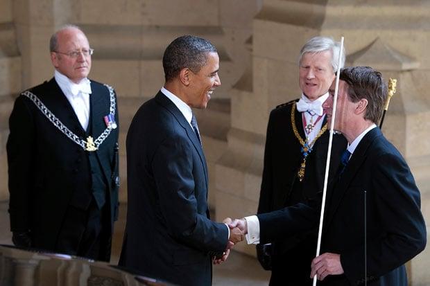 официальный прием Обамы в Лондоне