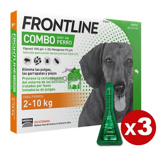 Frontline combo cani piccoli 2 10 kg antiparassitario 3 pipette ebay - Frontline dopo bagno ...