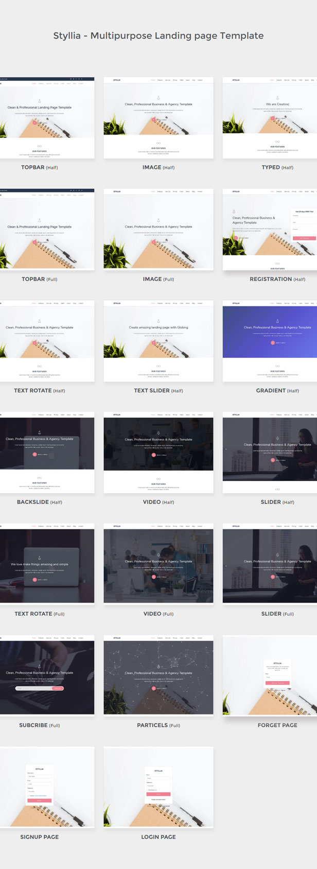 Styllia – Multipurpose Touchdown web page Template