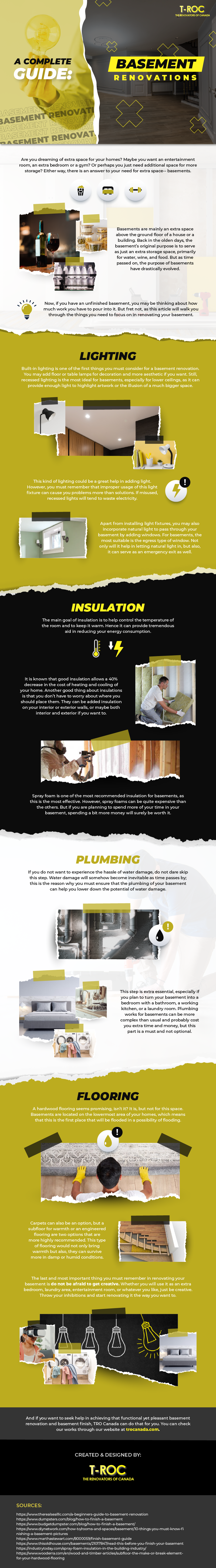 A Complete Guide: Basement Renovations [Infographics]
