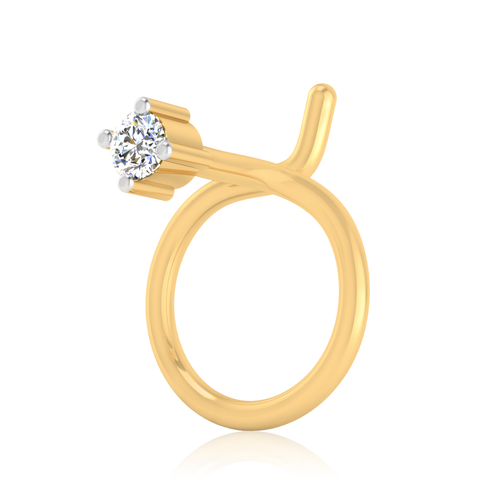 The Idoltary Solitaire Diamond Nose Pin
