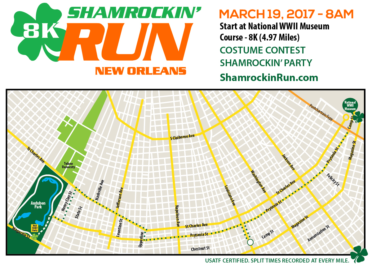 2017 Shamrockin Run Course