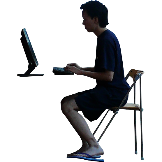 Imagenatives 0007 sitting computer cutout