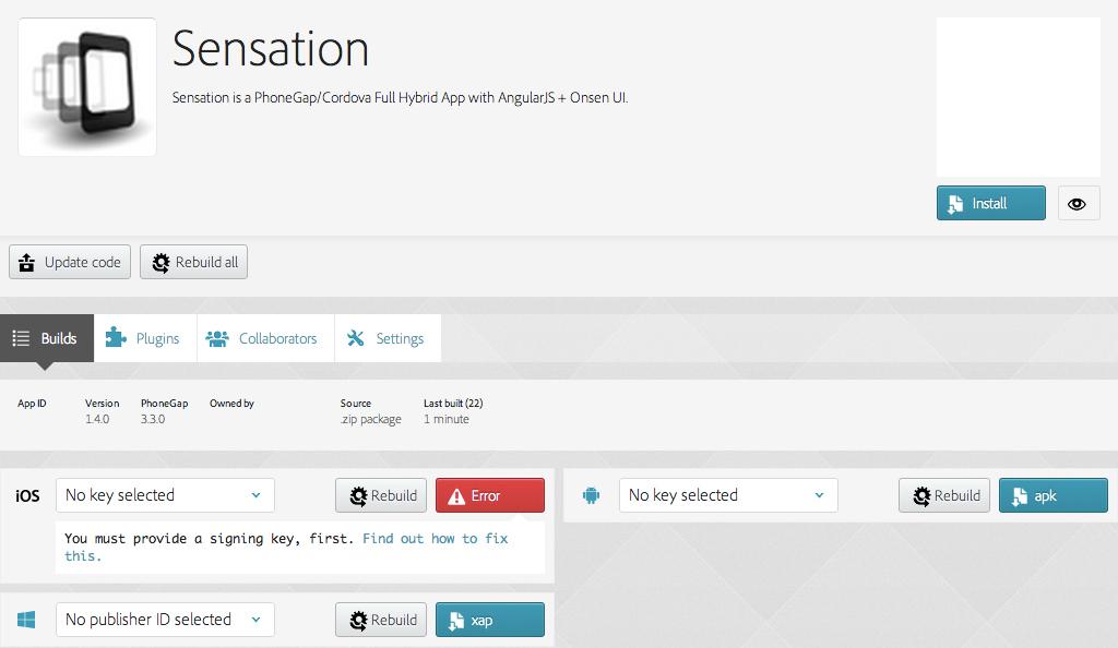 Sensation - PhoneGap / Cordova Full Hybrid App - 13